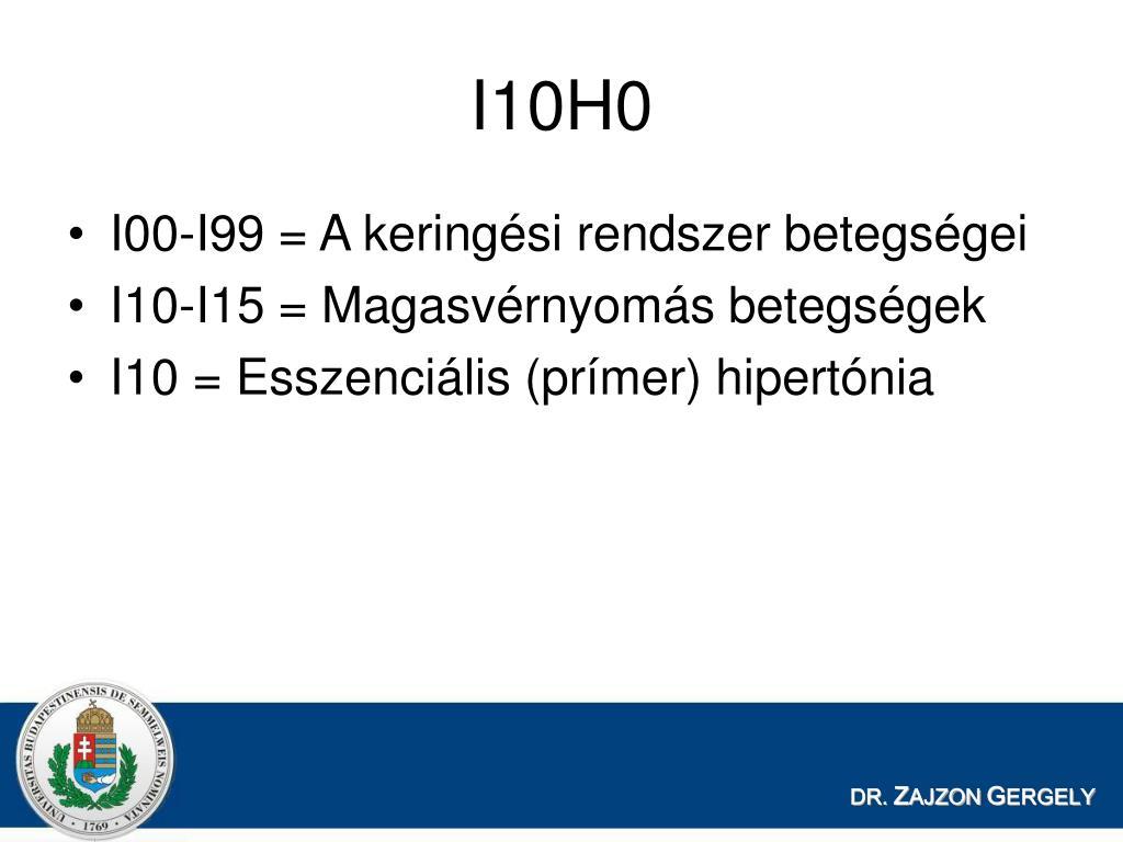 a magas vérnyomás betegségeinek nemzetközi osztályozása